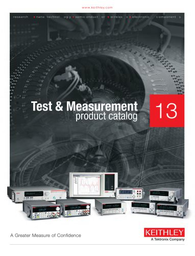 2013 Keithley product catalog