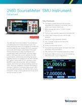 2460 SourceMeter ® SMU Instrument