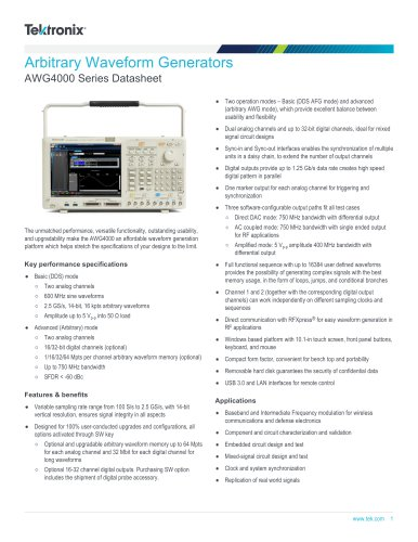 AWG4000 Series Datasheet