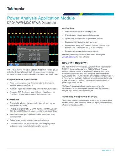 DPO4PWR·MDO3PWR Datasheet
