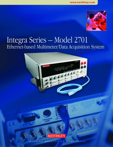 Integra Series – Model 2701 Ethernet-based Multimeter/Data Acquisition System