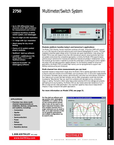 Model 2750 Multimeter/Switch System