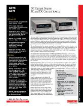 Model 6220 DC Current Source and Model 6221 AC and DC Current Source