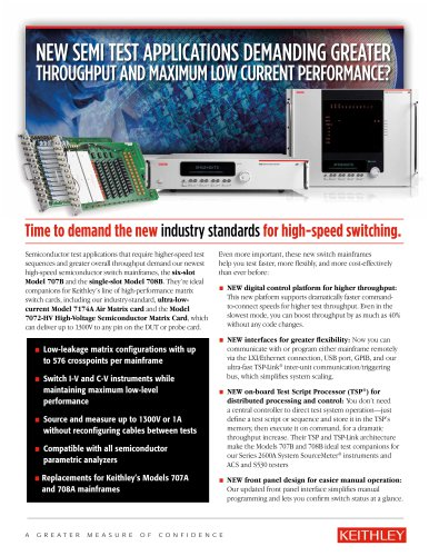 Models 707B and 708B - The New Industry Standards for High-Speed Switching