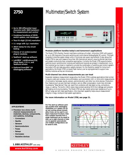 Multimeter/Switch System