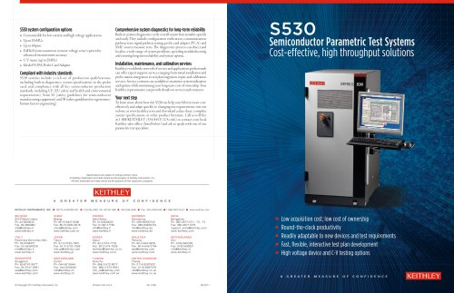 S530 Semiconductor Parametric Test Systems