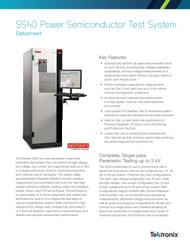 S540 Power Semiconductor Test System