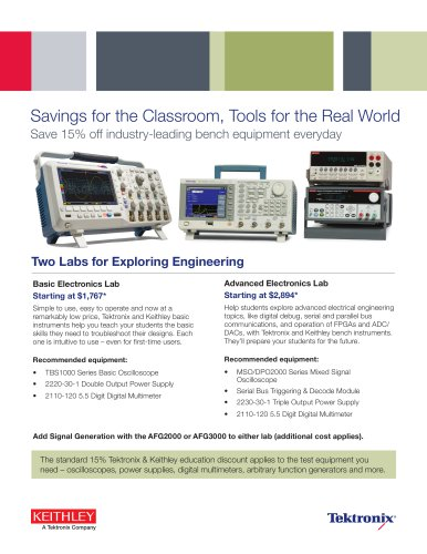 Savings for the Classroom, Tools for the Real World