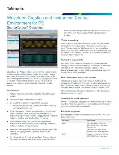 SourceXpress® Datasheet