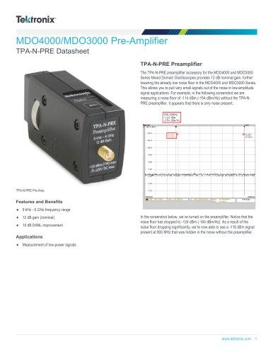 TPA-N-PRE Datasheet