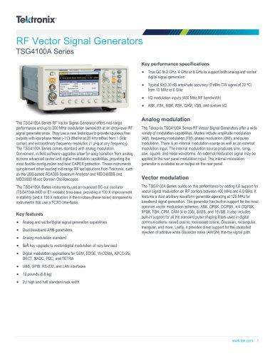 TSG4100A Series