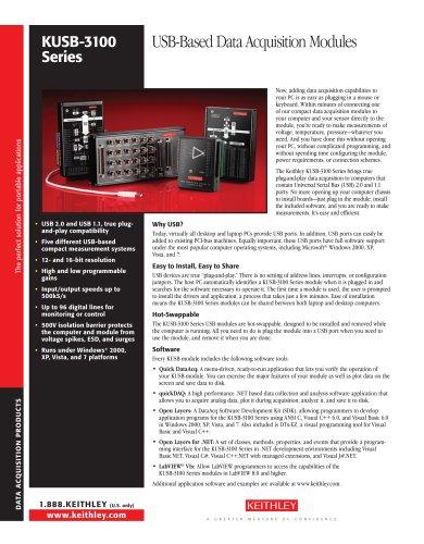 USB-Based Data Acquisition Modules
