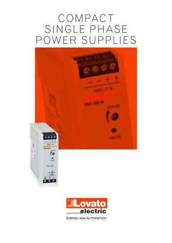 COMPACT SINGLE PHASE POWER SUPPLIES