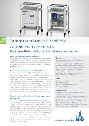 Análisis móvil del aire comprimido con METPOINT MCA
