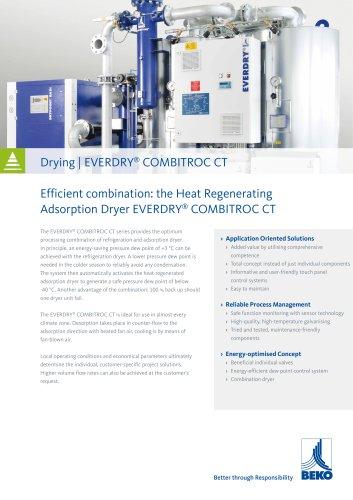 Compressed air dryer EVERDRY COMBITROC