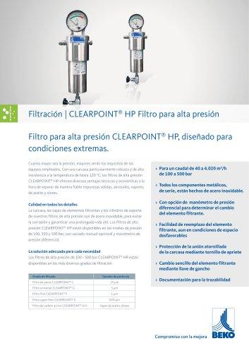 Filtro para alta presión CLEARPOINT ® HP