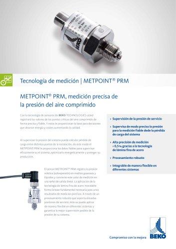 Monitorización de la presión con METPOINT PRM