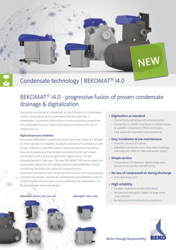 network-capable condensate drain BEKOMAT i4.0