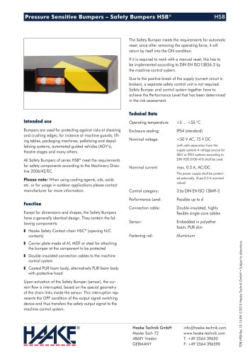 Pressure Sensitive Bumpers – Safety Bumpers HSB®