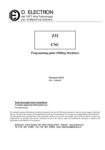 G-Code programming manual