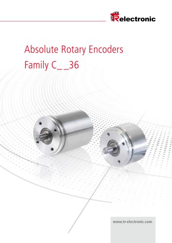 Product Information 36 mm Model Rotary encoder with encapsulated electronics
