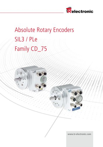 Product Information CD_75 - Safe rotary encoders SIL 3 / PL e