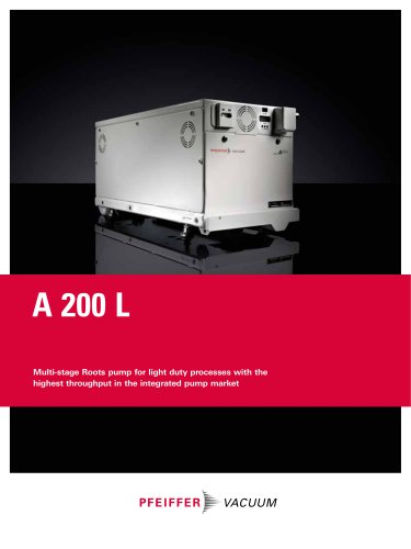 A 200 L - Multi-stage Roots Pumps