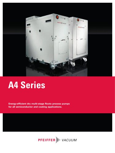 A4 Series - Energy-efficient dry multi-stage Roots process pumps for all semiconductor and coating applications.
