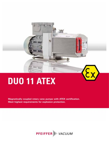 DUO 11 ATEX - Magnetically coupled rotary vane pumps with ATEX certification