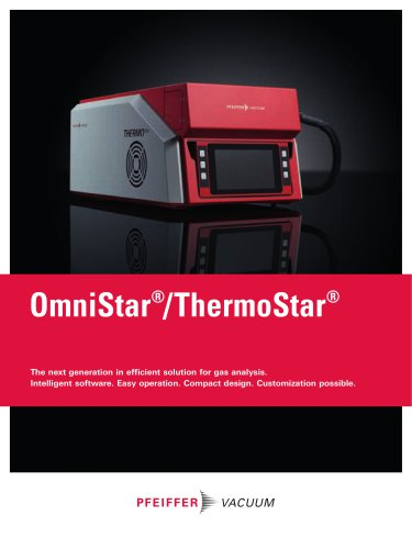 OmniStar / ThermoStar - The next generation in efficient solution for gas analysis