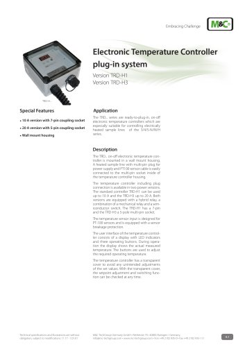 Electronic Temperature Controller plug-in system
