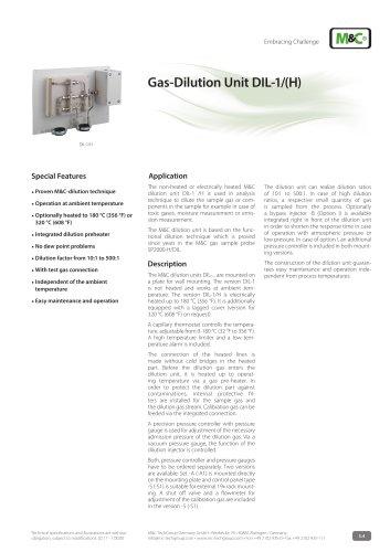 Gas-Dilution Unit DIL-1/(H)