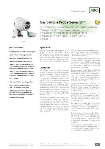 Gas Sample Probe Series SP®