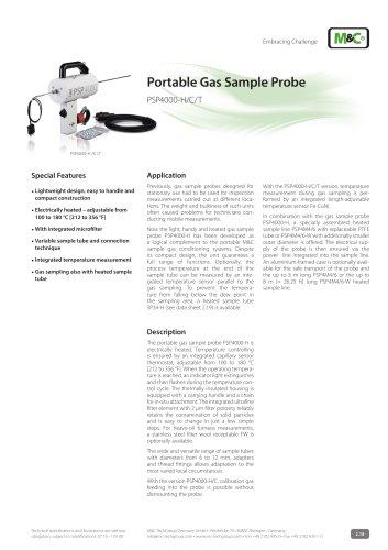 Portable Gas Sample Probe