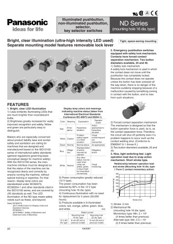 Push Button Switches - ND Series