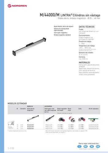 LINTRA®. Cilindros neumáticos sin vástago