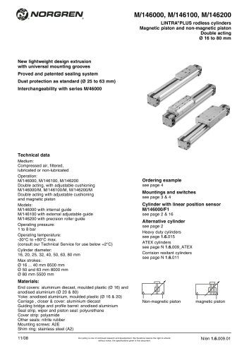 Rodless cylinder