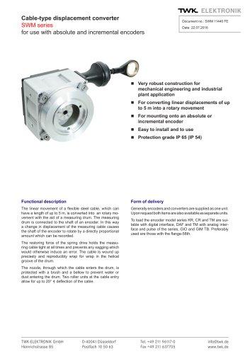 Draw-wire linear transducer SWM