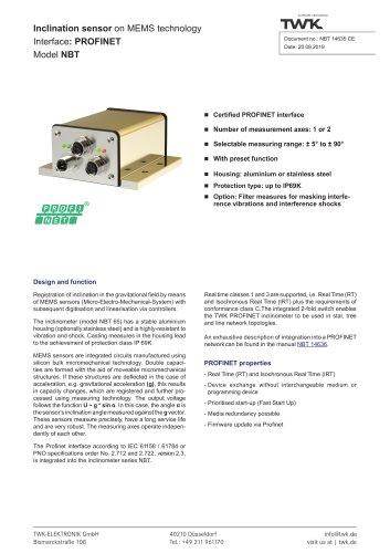 Inclination sensor NBT