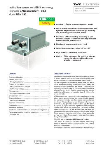 Inclinometer NBN/S3 SIL2