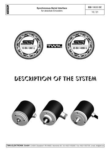 Inductive displacement transducer IWE260 system description