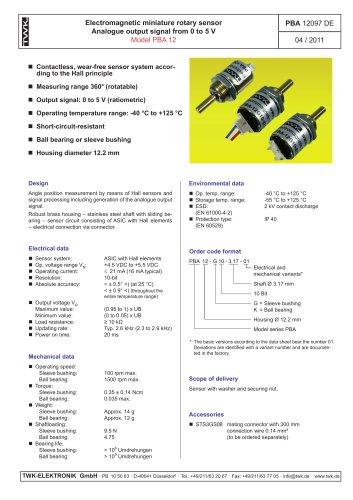 Rotary encoder PBA12