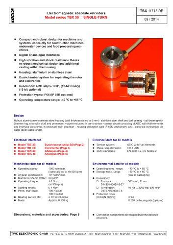 Rotary encoder TBA36