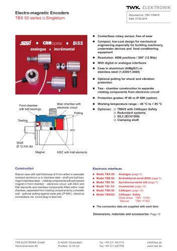 Rotary encoder TBE50