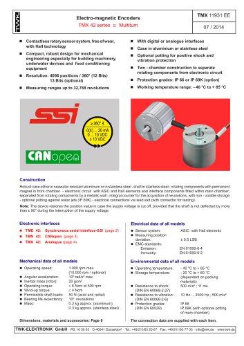Rotary encoder TMA42