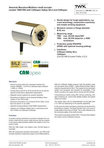 Rotary encoder TRN42/S4 SIL2