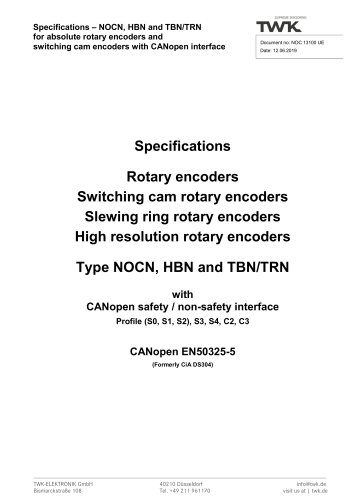 Rotary encoder TRN42/S4 SIL2 manual