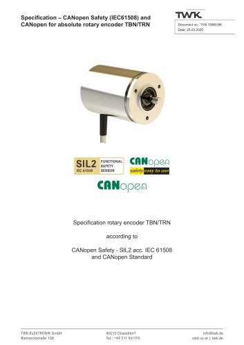 Rotary encoder TRN58/C3 manual