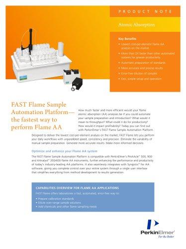 FAST Flame Sample Automation Platform