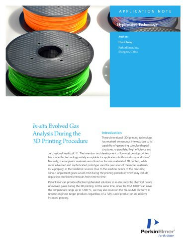 In-situ Evolved Gas In 3D Printing Application Note